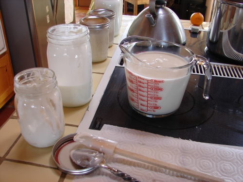 Measure out a gallon of milk...