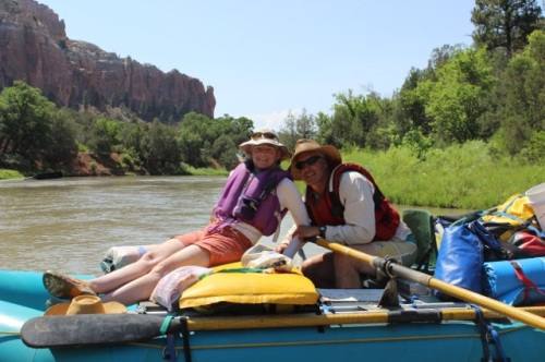 Randy and me, happy to be back on the river again!