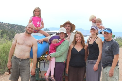 Our 3 family group, happy, tired, and sunburned.